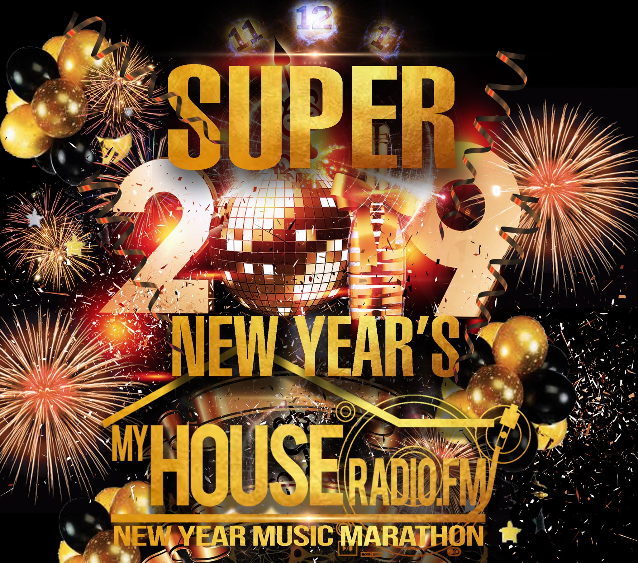 My House Radio New Years Three Day Marathon 2019 12/29 – 1/1/2019